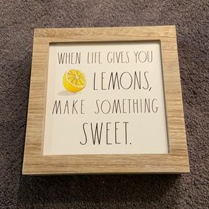 Rae Dunn Wooden Sign Lemons